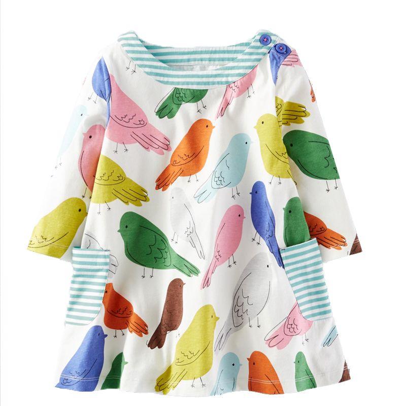 Bärenführer Mädchen Kleid 2018 Neue Frühling Mädchen Kleider Europäischen und Amerikanischen Stil Blau gebrochen Blume Marke Baby Kinder Kleider