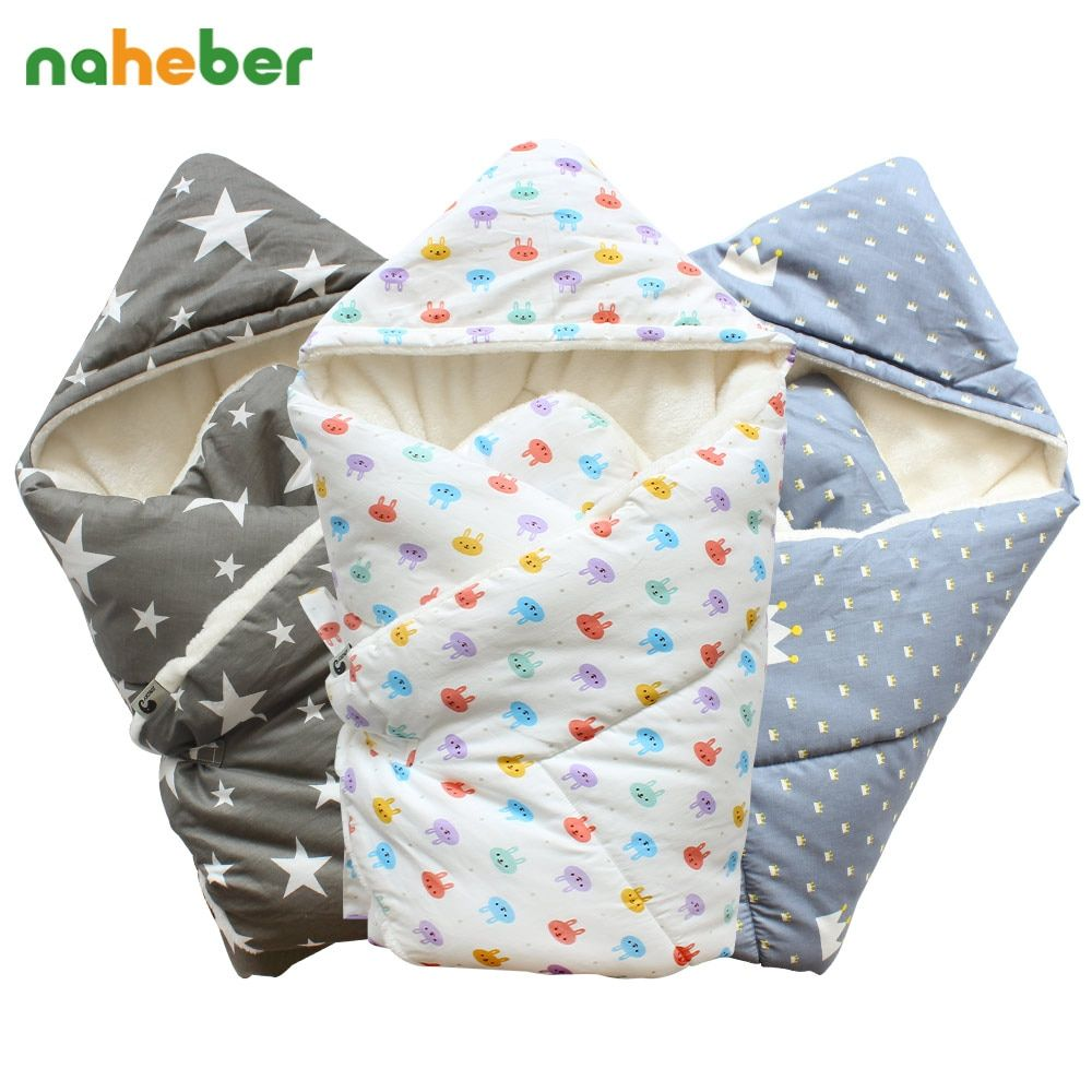 Baby Swaddle 90x90cm Baby Blanket Thick Warm Berber Fleece Envelopes For Newborns Infant Wrap Baby Bedding Sleeping