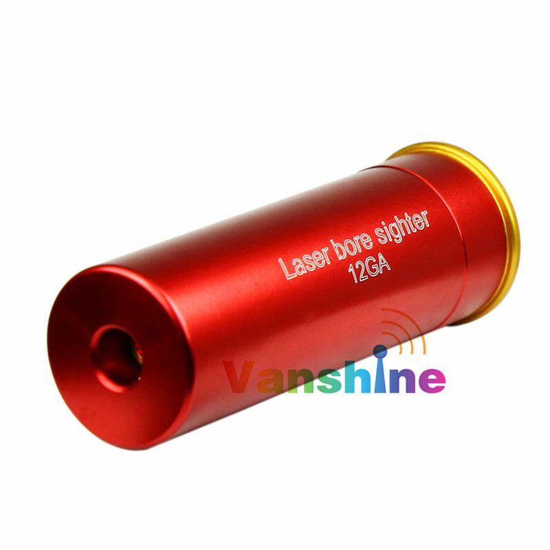 Láser rojo 12 gauge cartucho bore sighter 12ga láser boresighter Sight boresight Caza pistola escopeta