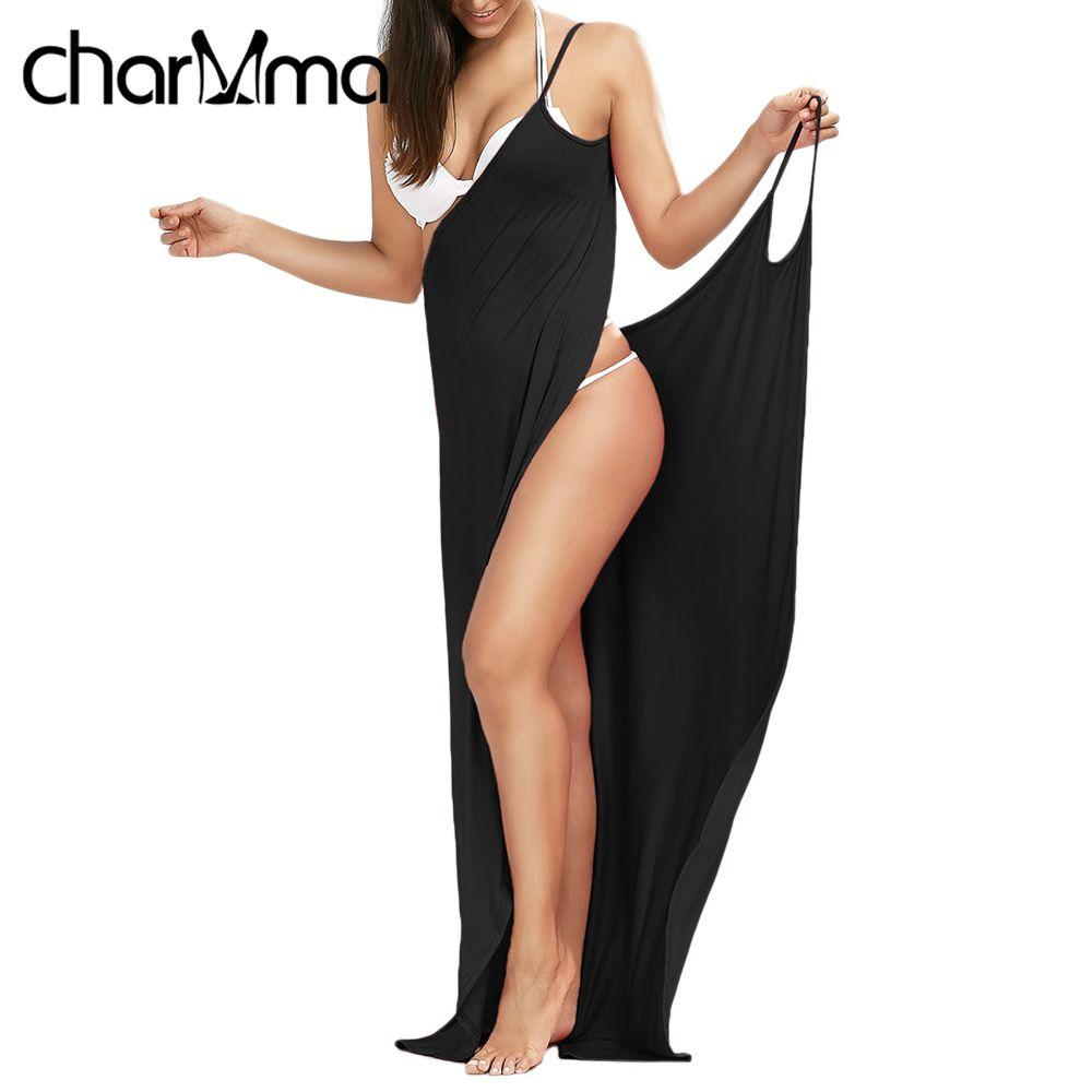 CHARMMA Vertuschen Wrap Slip Strand Kleid Tunika Robe De Plage 2017 sommer Strand Tragen Frauen Tuniken für Strand Sarongs Bikini Abdeckung Up