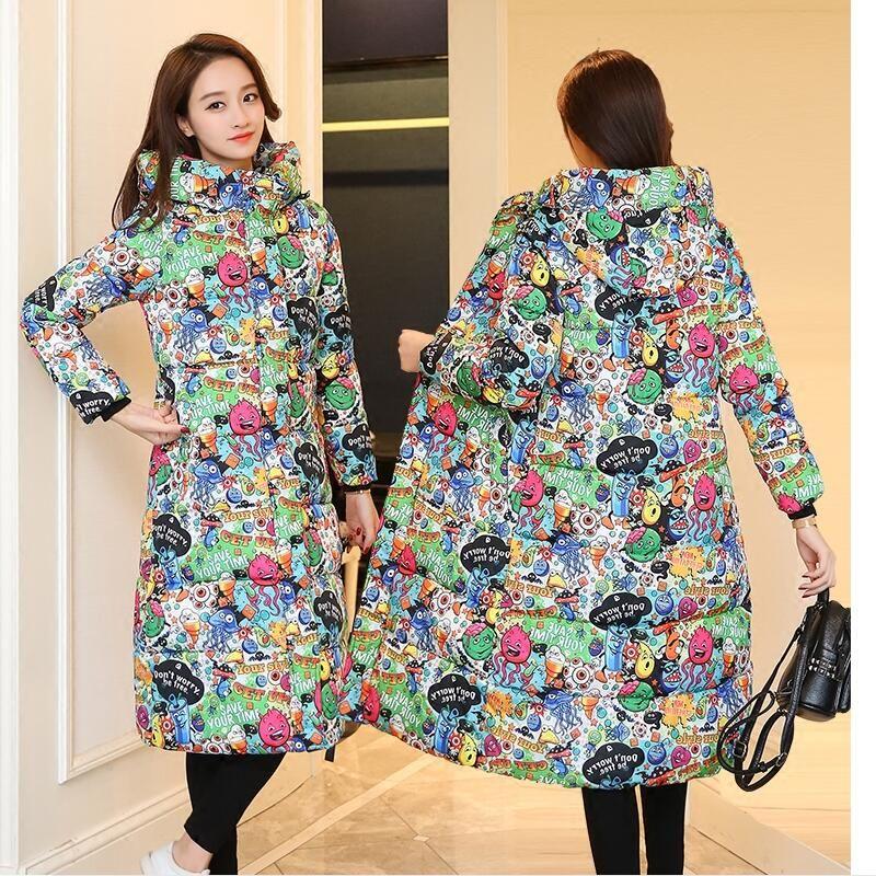 Beautiful!!2017 High Quality New Autumn Winter Coat Design Padded Down Cotton Plus Size Slim Jacket Hooded Zipper Women Fashion