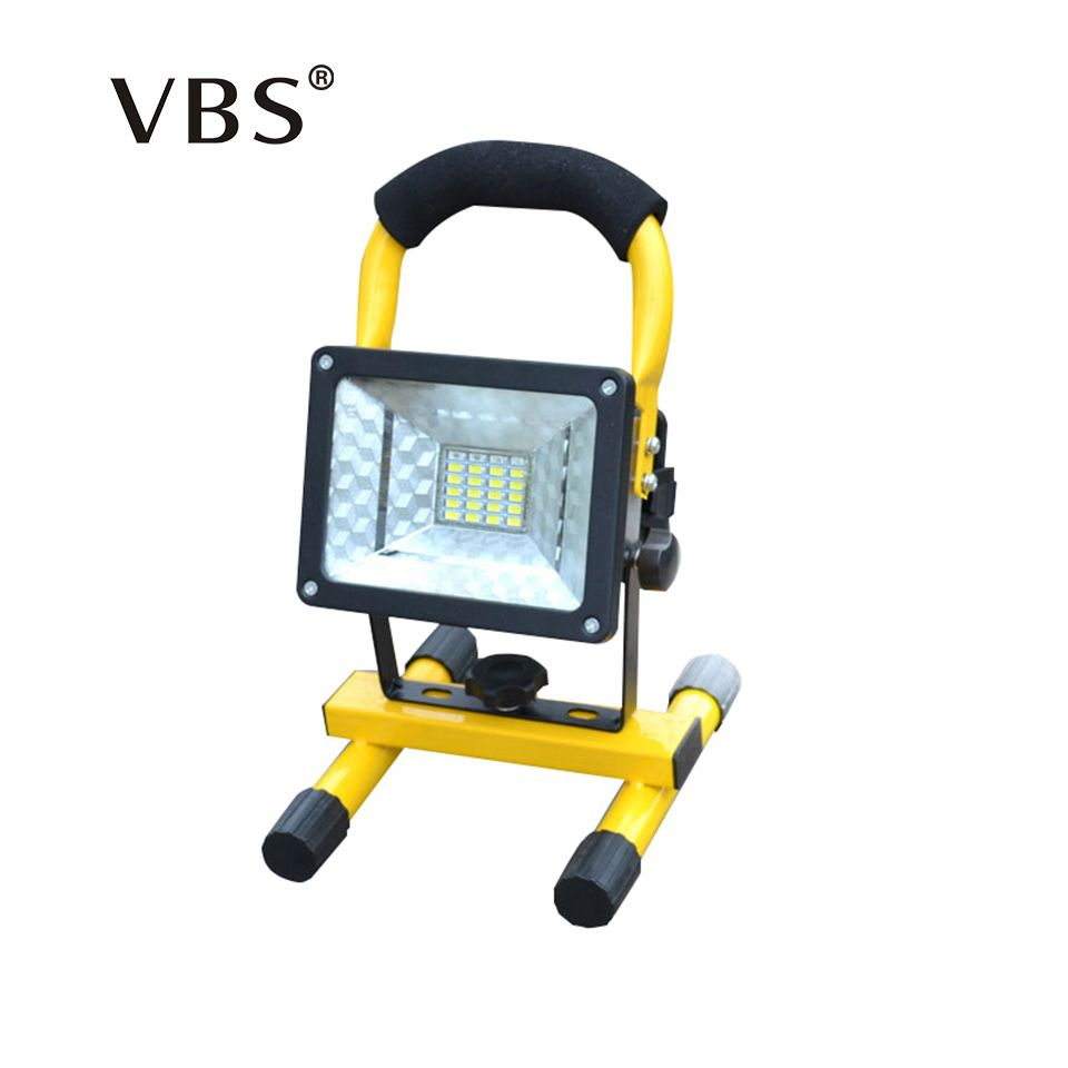 <font><b>Rechargeable</b></font> LED Floodlight Portable Spotlight Movable Outdoor Camping Light 24led Grassland Power from 3*18650 Batteries