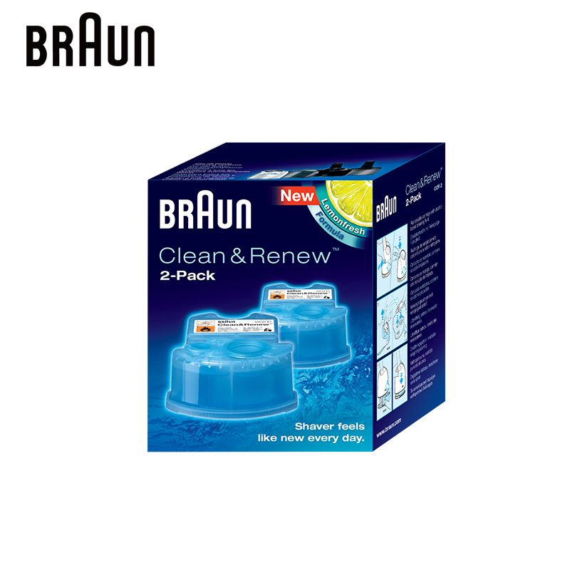 Braun Clean & Renew Refill Cartridges CCR Replacement Cleaner for Bruan Electric Shaver with Automatic Cleaning Center