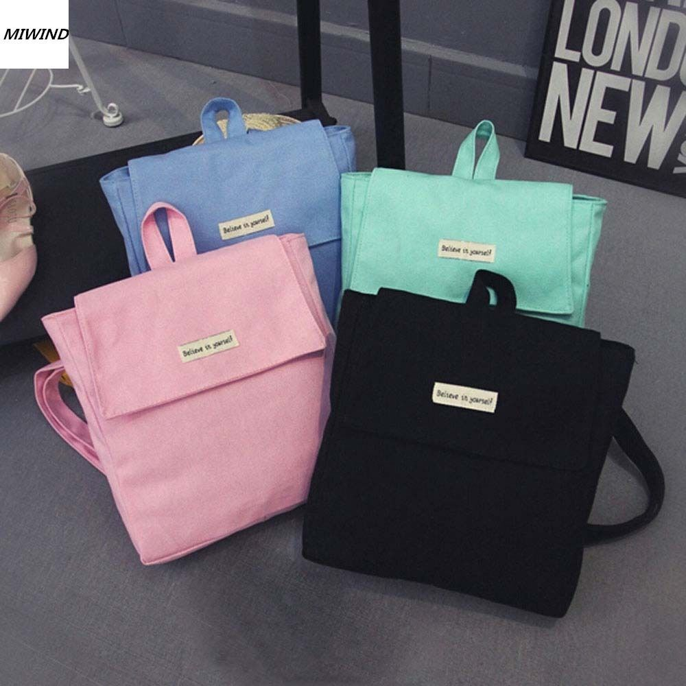 Mujeres Mochila Moda de Nueva Casual señoras de la Lona femenina mochila para las adolescentes school travel bag solid mini mochila Pequeña