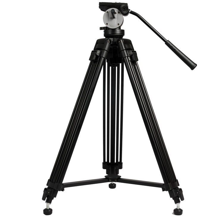 BENRO KH25N Professional Camera Tripod Quick Release Plate Single Handle Hydraulic Damper Head Suit Tripe Tripodes Accessories