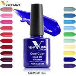 Venalisa Гель-лак для ногтей 60 цветов высокого качества продукт для дизайна ногтей замочить без запаха органический УФ-гель для ногтей Гель-лак