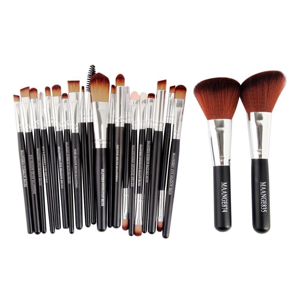 22 pièces Pinceaux De Maquillage Professionnel Cosmétique Outil Ensemble maquillage Brosse Outils MAANGE