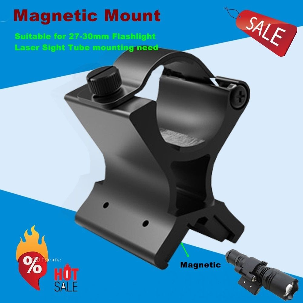 30mm scope mount Magnetic Flashlight Mount Black Hole Diameter 30mm Flashlight /laser /rifle scope hunting mount-MX02