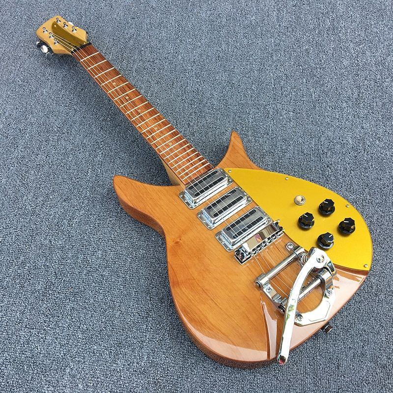 High quality rickenbacker electric guitar, two alder bodies, maple's guitar neck, Korean production of three pickup, Real photos