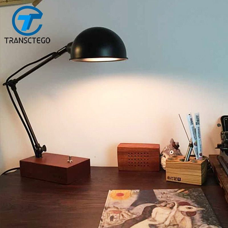 industrial retro Desk Lamp Desklight flexible simple style Table Lamp Vintage Desklight