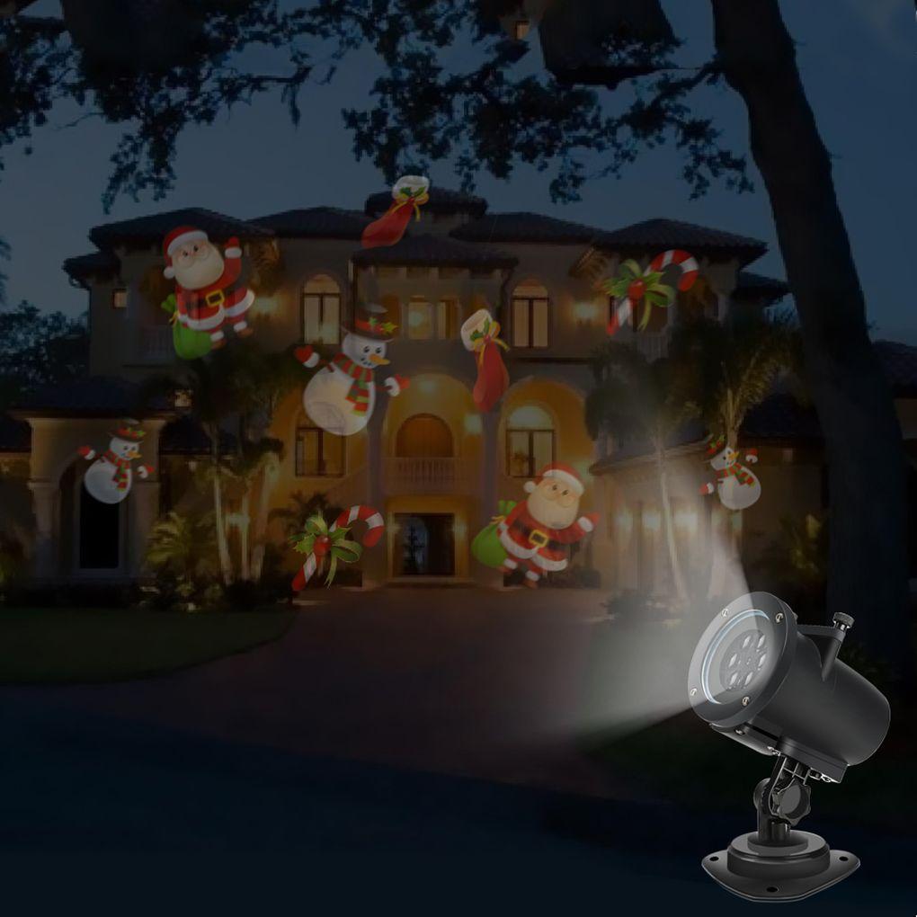 Navidad Luces Láser LED Proyector Paisaje Spotlight Para Halloween Fiesta de Bodas Cumpleaños 10 diapositivas en blanco