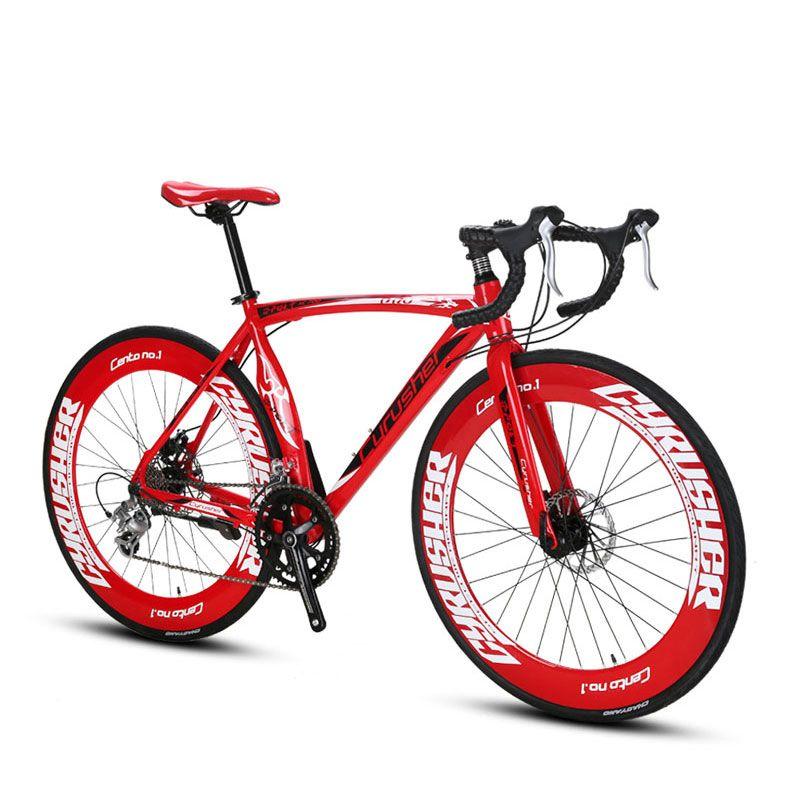 Cyrusher XC700 Sports Racing Road Bicycle 14 Speeds 700C 54/56CM Light Aluminum Frame Pro Mens Road Bike Mechanical Disc Brakes
