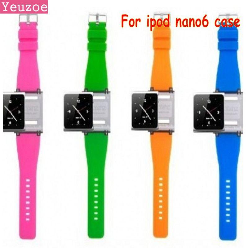 Freies verschiffen Handgelenk Band für iPod nano 6 für ipod nano6 Mit Kleinpaket 9 farben für nano6 fall funda coque