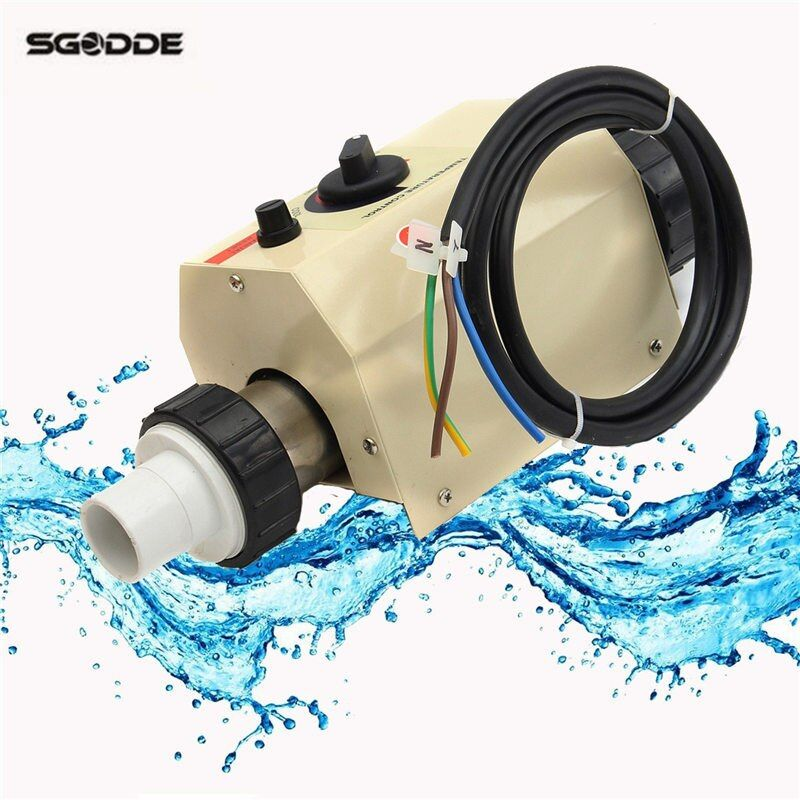 Pool wärmepumpe 2KW 220 V Elektrische Schwimmbad und Whirlpool Heizung Wanne Warmwasserbereiter Thermostat 220 V Schwimmen Pool Zubehör