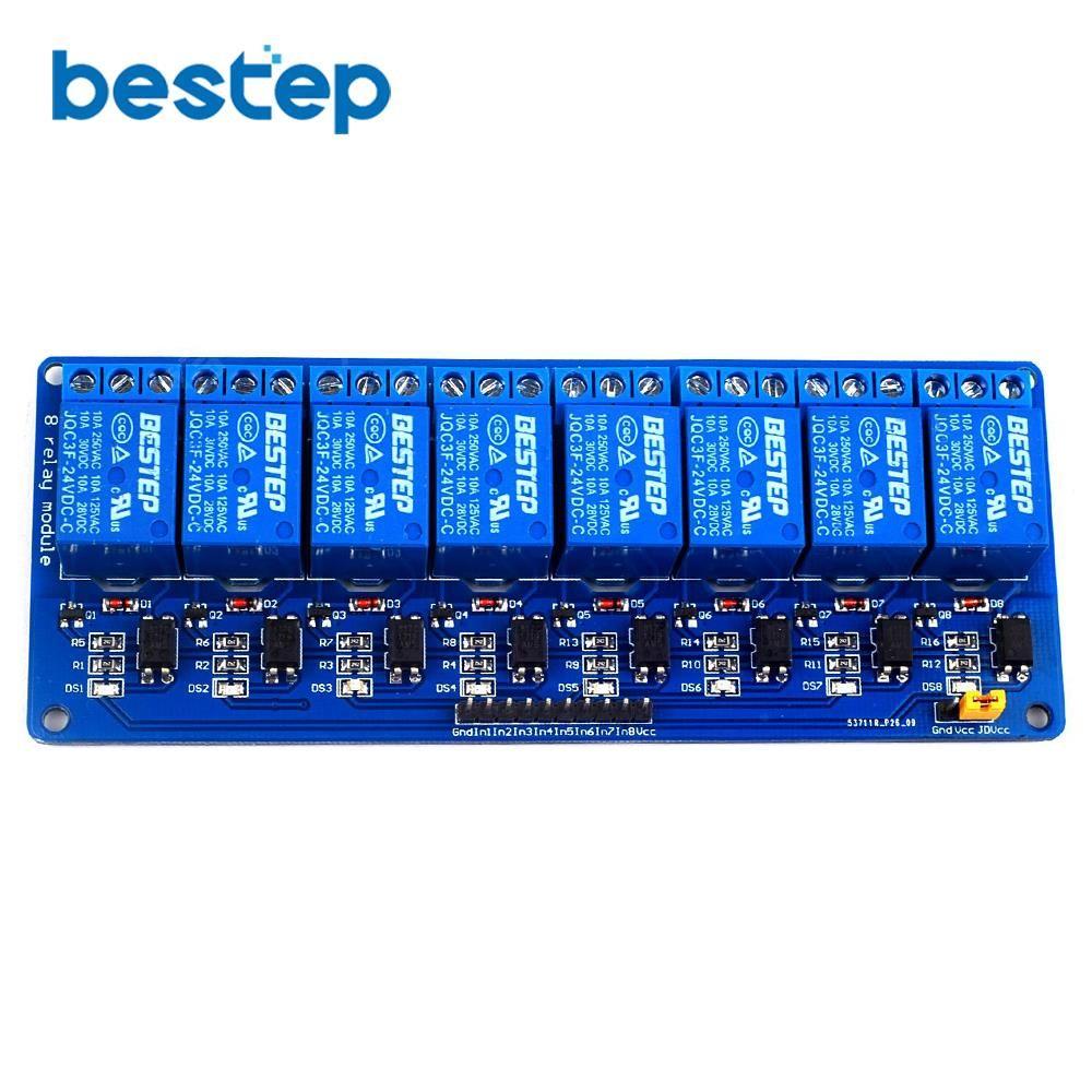 1 STÜCKE 8 Kanal Relaismodul 24 V Low level Relaisausgang 8 1-weg-relais-modul