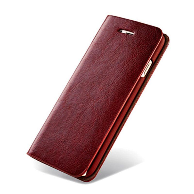 Etui En Cuir de luxe pour iphone X 8 7 7plus 6 6 s 6 Plus 5 5S SE Portefeuille avec Fentes pour Cartes Housse Dos Coque Fundas