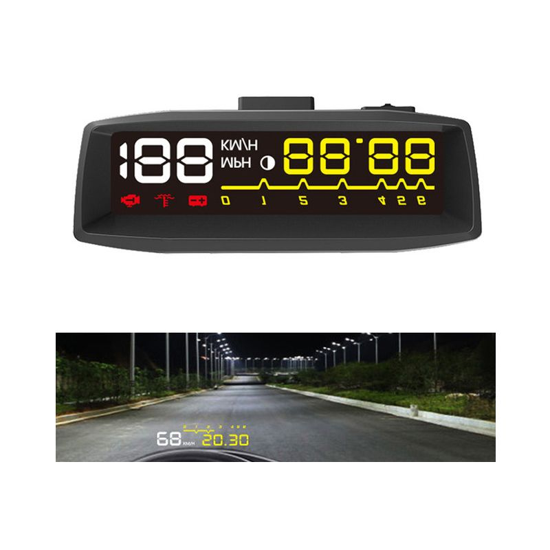 2017 New Design 4F Car OBD2 II EUOBD HUD Head Up Display Car HUD KM/h MPH Overspeed Warning Windshield Projector Alarm System