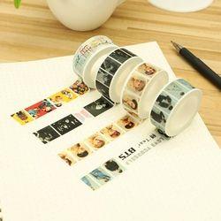 Baru Kedatangan Kpop Fashion GOT7 Ingin Satu Buku Catatan Stiker 1 Pcs DIY 2 Cm * 10 M Kertas Masking Scrapbook lucu Washi Tape