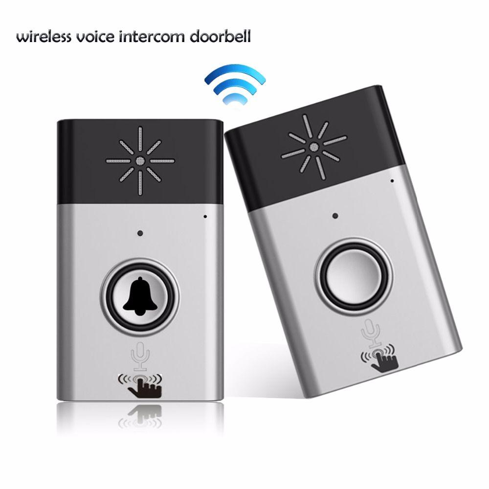 Wireless Doorbell Voice Intercom Doorbell 2-way Talk For Home Security F1778A