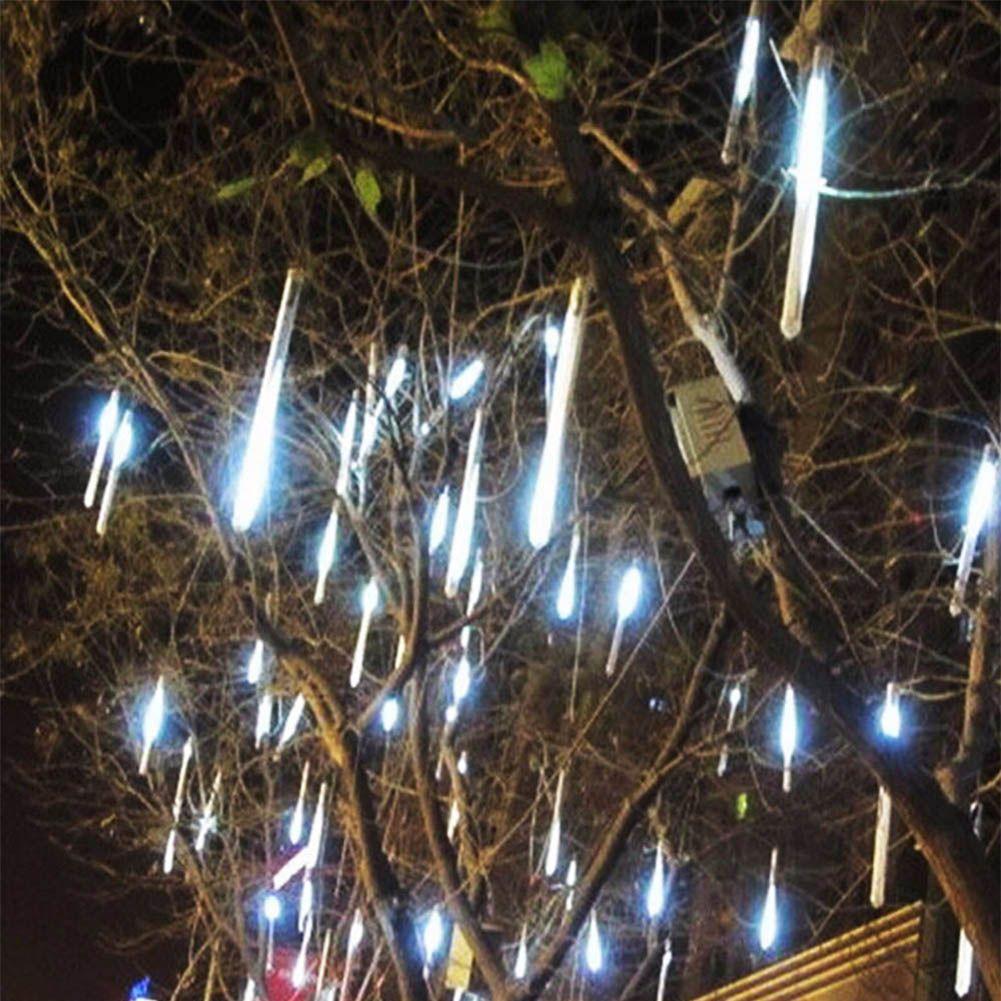 TSLEEN New 30cm 50cm Meteor Shower Falling Star Rain 2835 LED Lamp Xmas Tree String Light 4 Colors For Choice