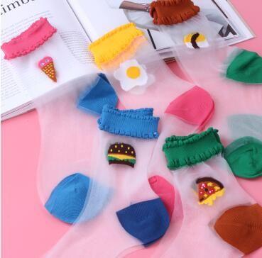 asi socks  2017 Women Fashionable Patterns Cotton Winter Socks Cute Cartoon Middle Sock Female Short Socks