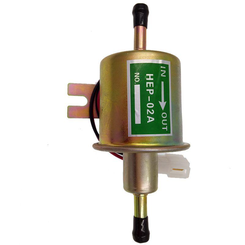 High Qulity diesel petrol gasoline 12V electric fuel pump HEP-02A low pressure fuel pump for carburetor, motorcycle , ATV