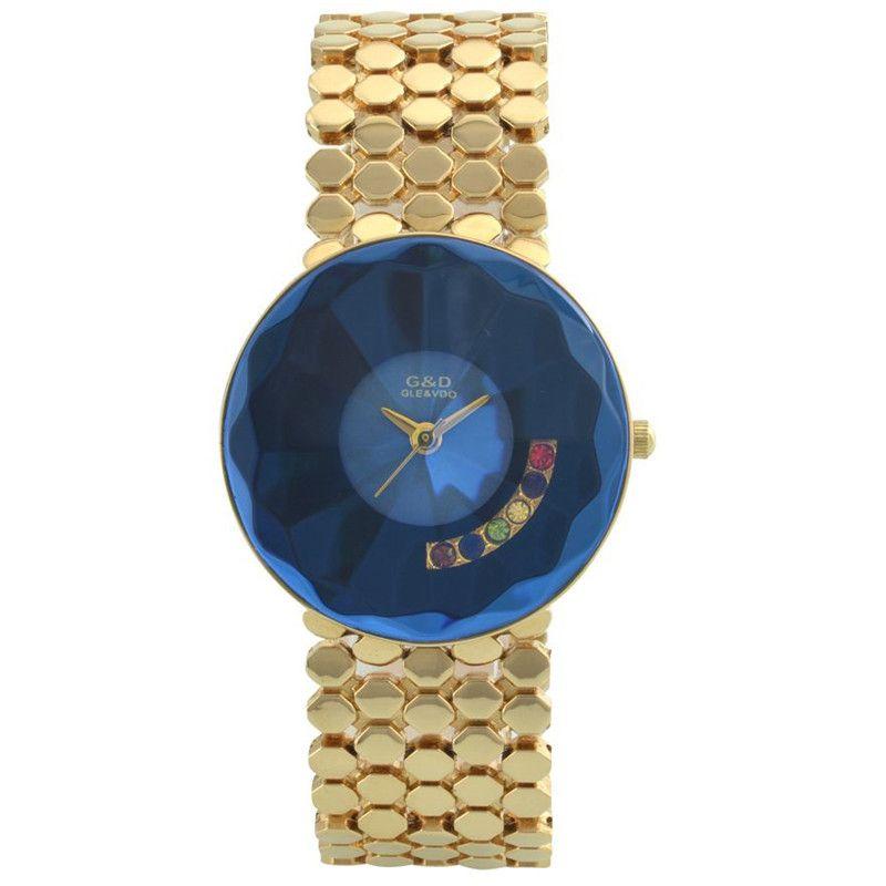 2017 GLE&VDO Fashion Horloges Vrouwen Watches Women Bangle Quartz Watch Wristwatch Gift Box Free Ship