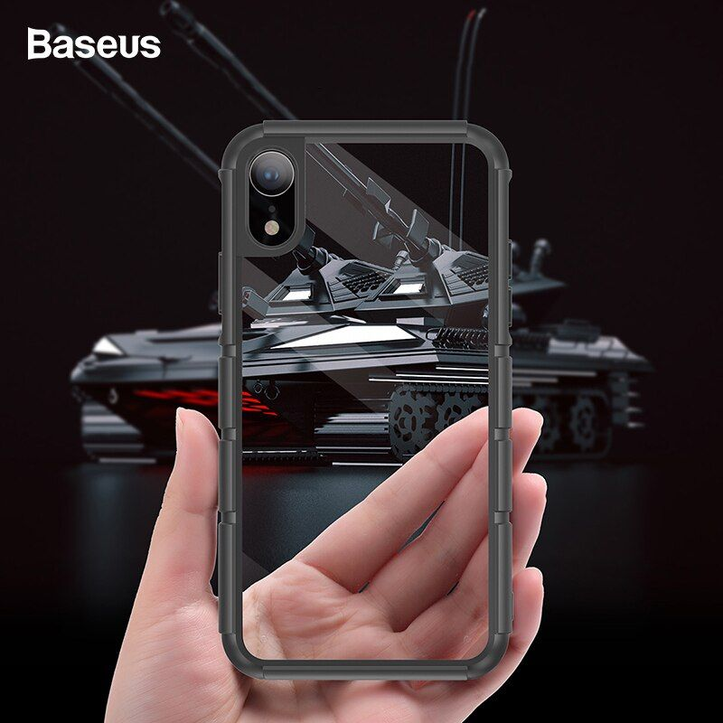 Baseus Luxus Fall Für iPhone Xr Coque Silikon PC Hybrid Stoßfest Protective schutzhülle Rüstung Tank Fall Für iPhoneXr Fundas