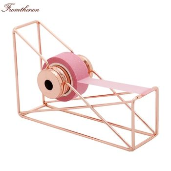 Fromthenon Rose Gold Tape Dispenser Tape Cutter Washi Tape Storage Organizer Cutter Stationery Office Supplies Stationery store