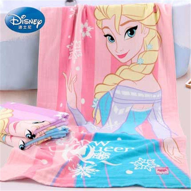 Disney Elsa Princess Queen Frozen Gauze newborn and Baby Bath Towel 100% cotton Child beach towel Girl's gift gifts