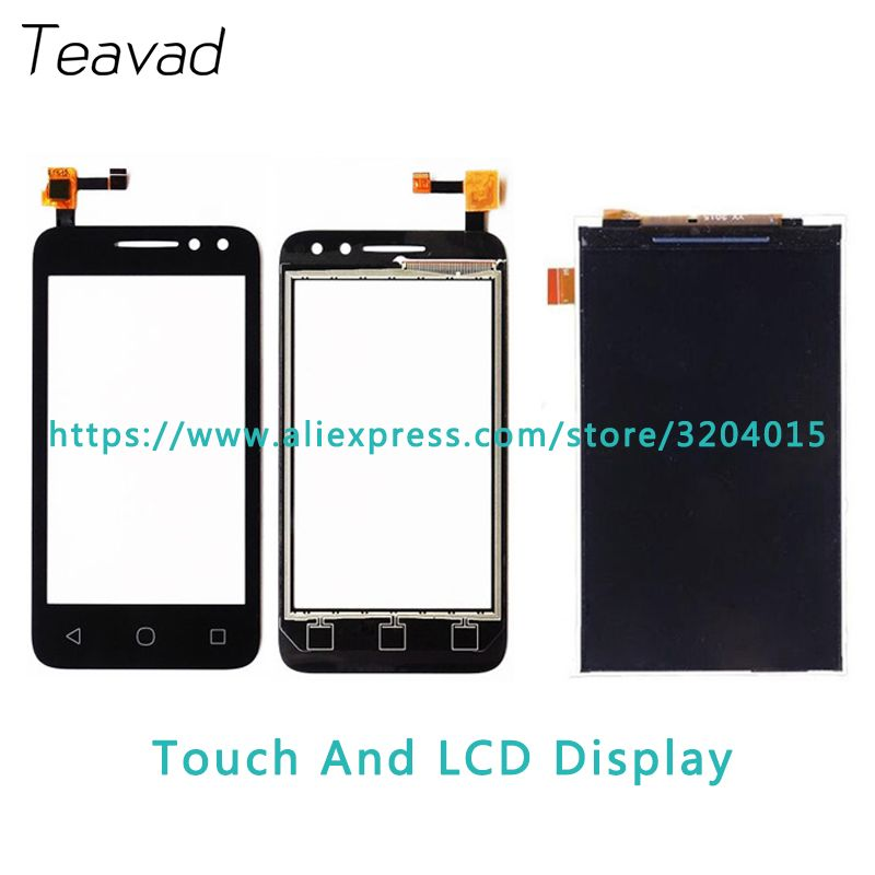 Replacement part 3.5'' For Alcatel One Touch 4034D 4034A 4034E OT4034 LCD Display Screen and Touch Screen Digitizer Sensor