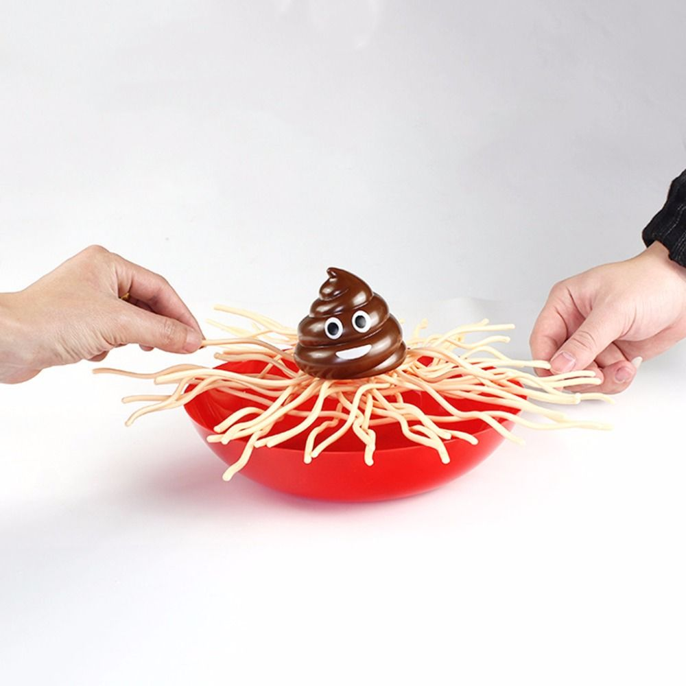 Family Gameplay Toy Fall Into The Bowl Noodles Spaghetti Noodles Family Kids Party Desktop Toys Gift