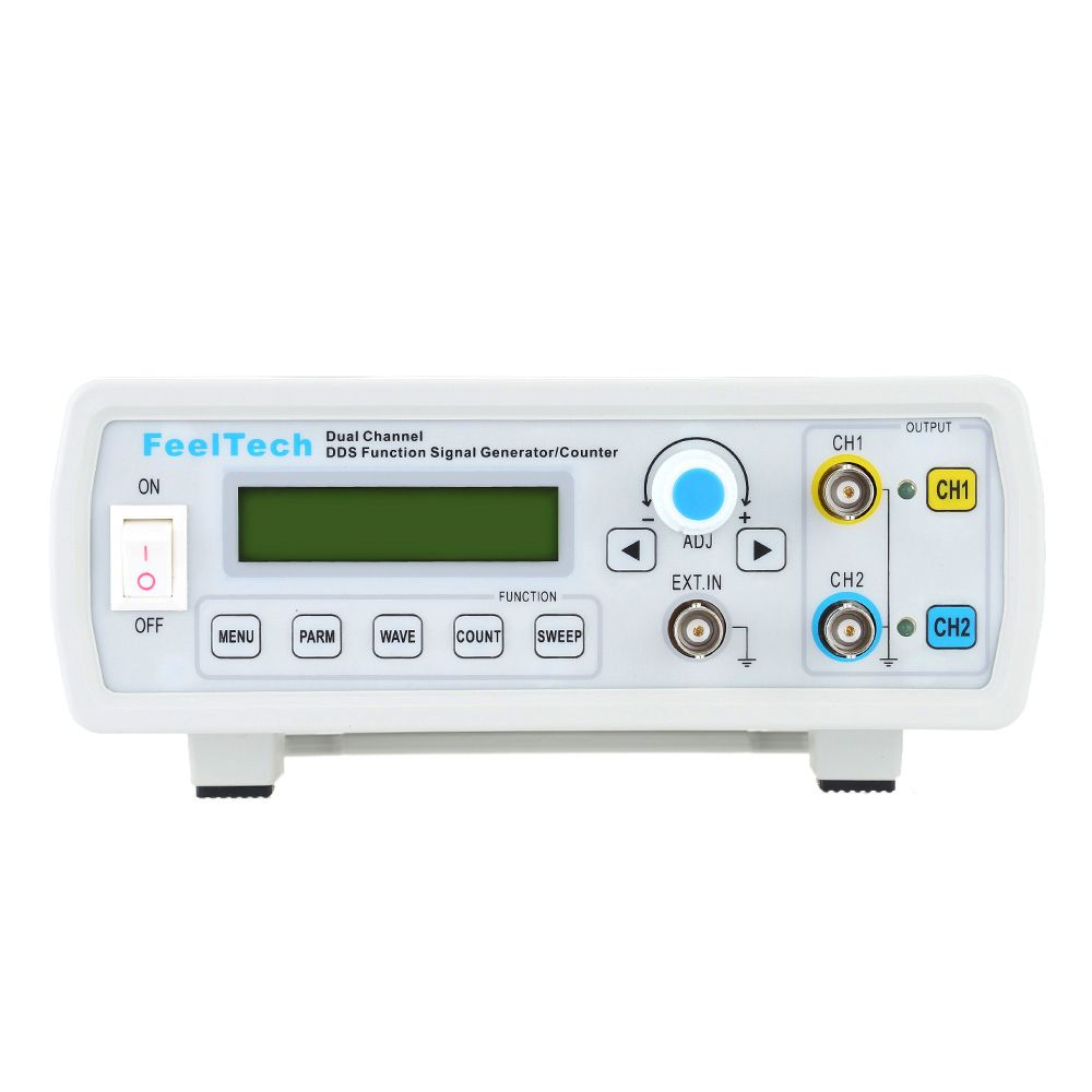 Dual Channel Digital DDS Function Generator High Precision signal generator Meter Frequency Generator Sine/Square Waveform 6MHz