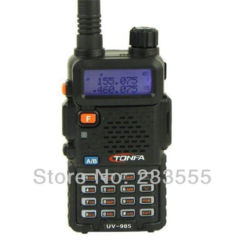 Black NEW Radio Walkie Talkie TONFA UV-985 Dual Band 8W VHF 136-174MHz&UHF 400-470MHz FM VOX DTMF ANI-ID CB Two Way Radio