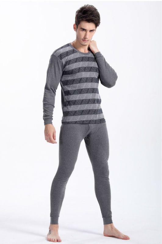Высочайшее качество 2016 Стиль Для мужчин шею с длинными рукавами термобелье хлопковые подштанники Для мужчин нижнее белье комплекты Беспла...