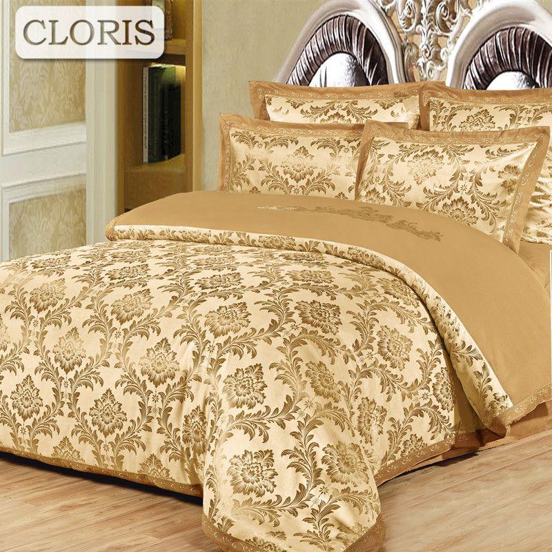CLORIS Heißer Bettwäsche Edle Bettwäsche Kit Besten Baumwolle Duvetsteppdeckeabdeckungen Bettlaken Bettdecke Bettdecke König Queen-Size Bettdecken
