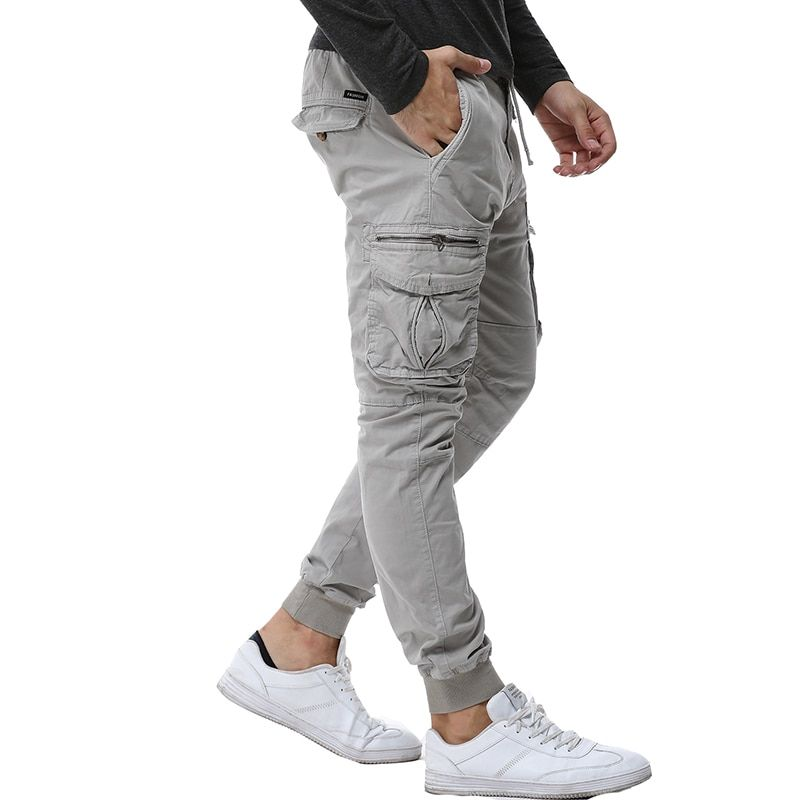 2017 Mens Camouflage Tactical Cargo Pants Men Joggers <font><b>Boost</b></font> Military Casual Cotton Pants Hip Hop Ribbon Male army Trousers 38