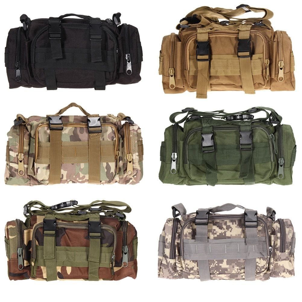 3L/6L Outdoor Military Tactical Waist Bag Waterproof Nylon <font><b>Camping</b></font> Hiking Backpack Pouch Hand Bag mochila military bolsa