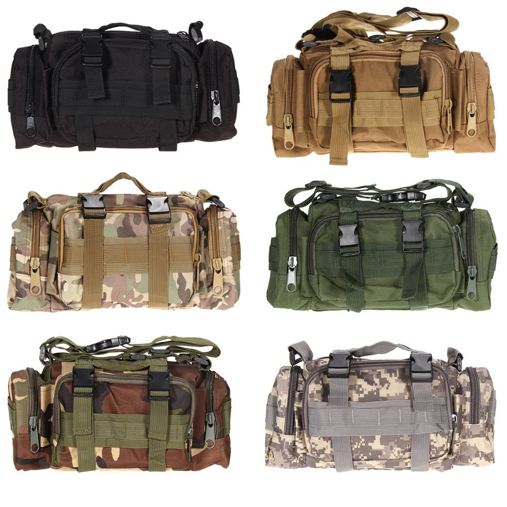 3L/6L Outdoor Military <font><b>Tactical</b></font> Waist Bag Waterproof Nylon Camping Hiking Backpack Pouch Hand Bag military bolsa Style mochila