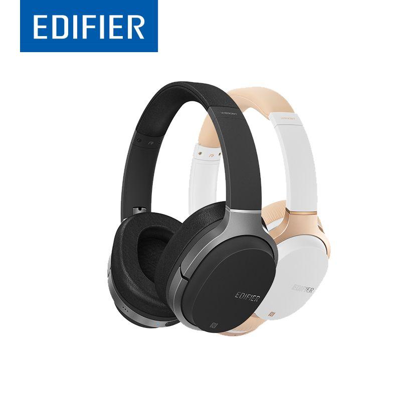 EDIFIER W830BT HIFI Bluetooth Headphones Noise <font><b>Isolation</b></font> Wireless Over-Ear Bluetooth 4.1 Headset Support NFC Apt-X Built-in Mic