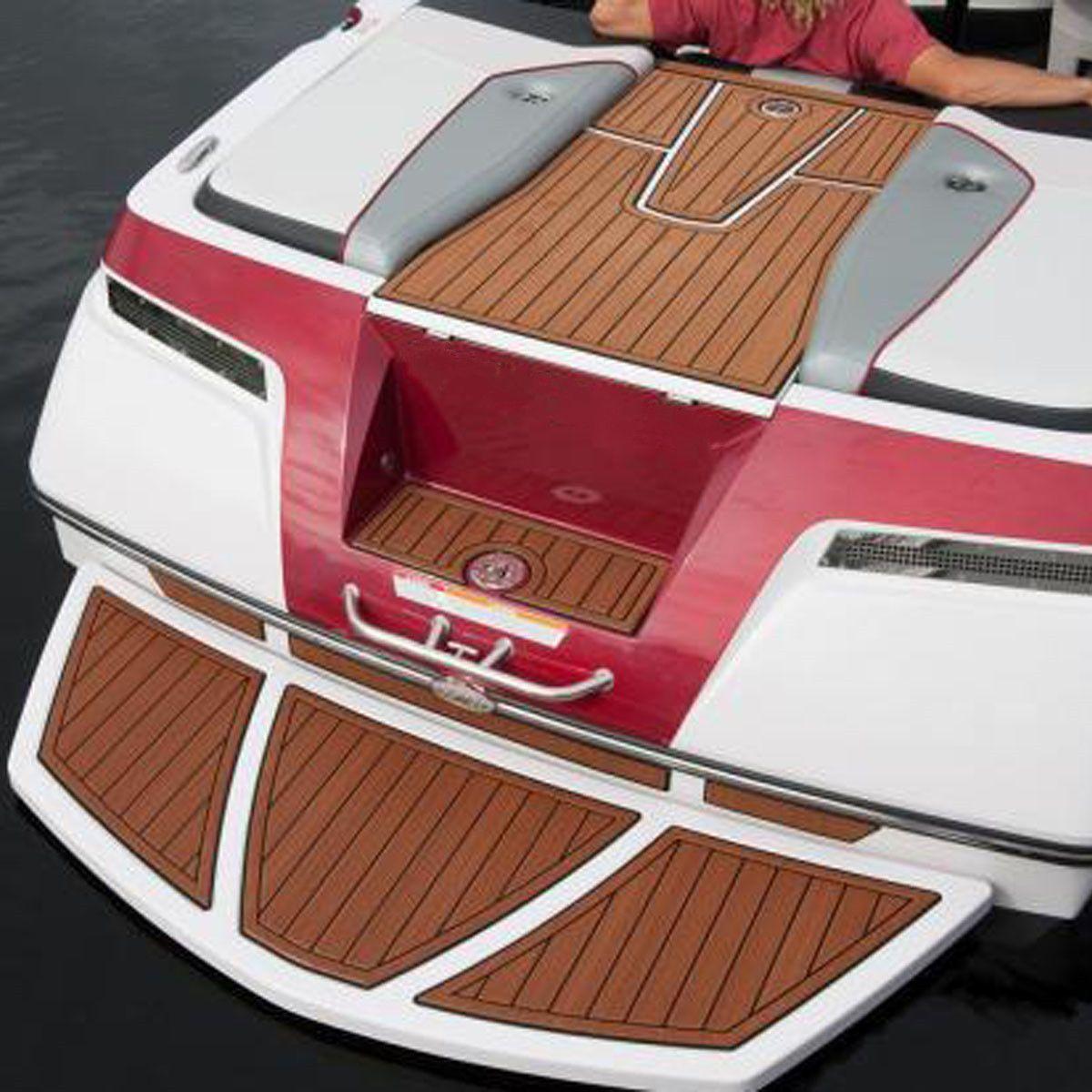 58x2400x5mm Self Adhesive EVA Boat Yacht Flooring Teak Decking Carpet Sheet Pad Foam Floor Mat for RV Motorhome Caravan