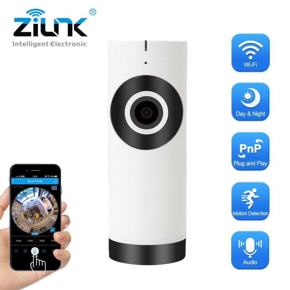 Caméra IP ZILNK 180 degrés objectif Fisheye panoramique HD 720 P Wi-Fi deux voies Audio moniteur bébé intérieur sécurité à domicile CCTV caméra IP