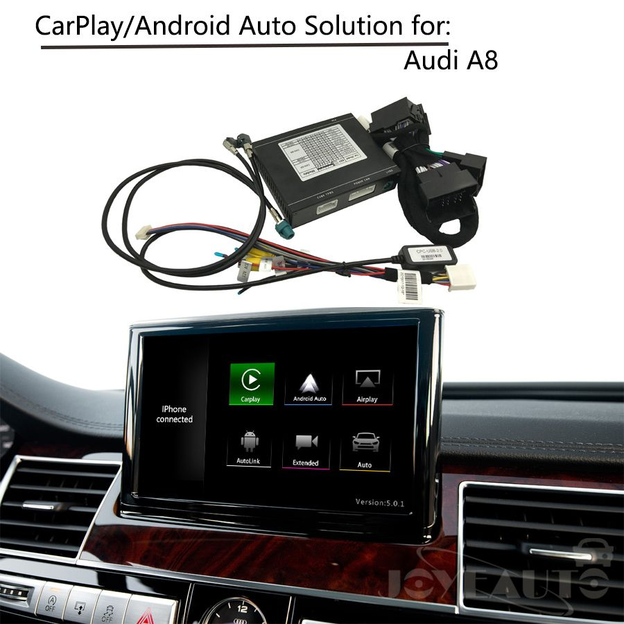 CarPlay Interface Adapter Aftermarket OEM Apple Carplay Android Auto IOS Airplay Retrofit Upgrade A8 MMI for Audi AUX Activated