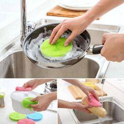 Silikon Sikat untuk Mangkuk Pot Pencuci Piring Spons Serbaguna Antibakteri Smart Sponge Cleaning Sikat Dapur Aksesoris