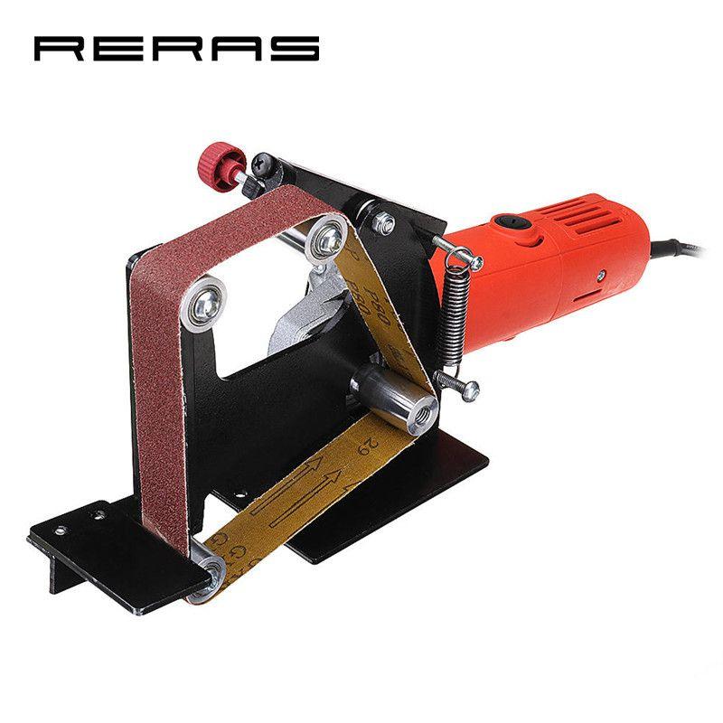 Elektrische Eisen 100 Winkel Grinder Gürtel Sander Befestigung Metall Holz Schleifen schleifen Polieren Maschine Gürtel Adapter Powel Werkzeuge