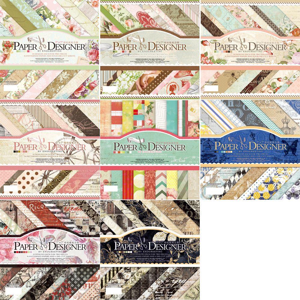 ENO salutation Scrapbooking tampons papier Origami Art fond papier carte faisant artisanat de papier pour scrapbook travaux manuels