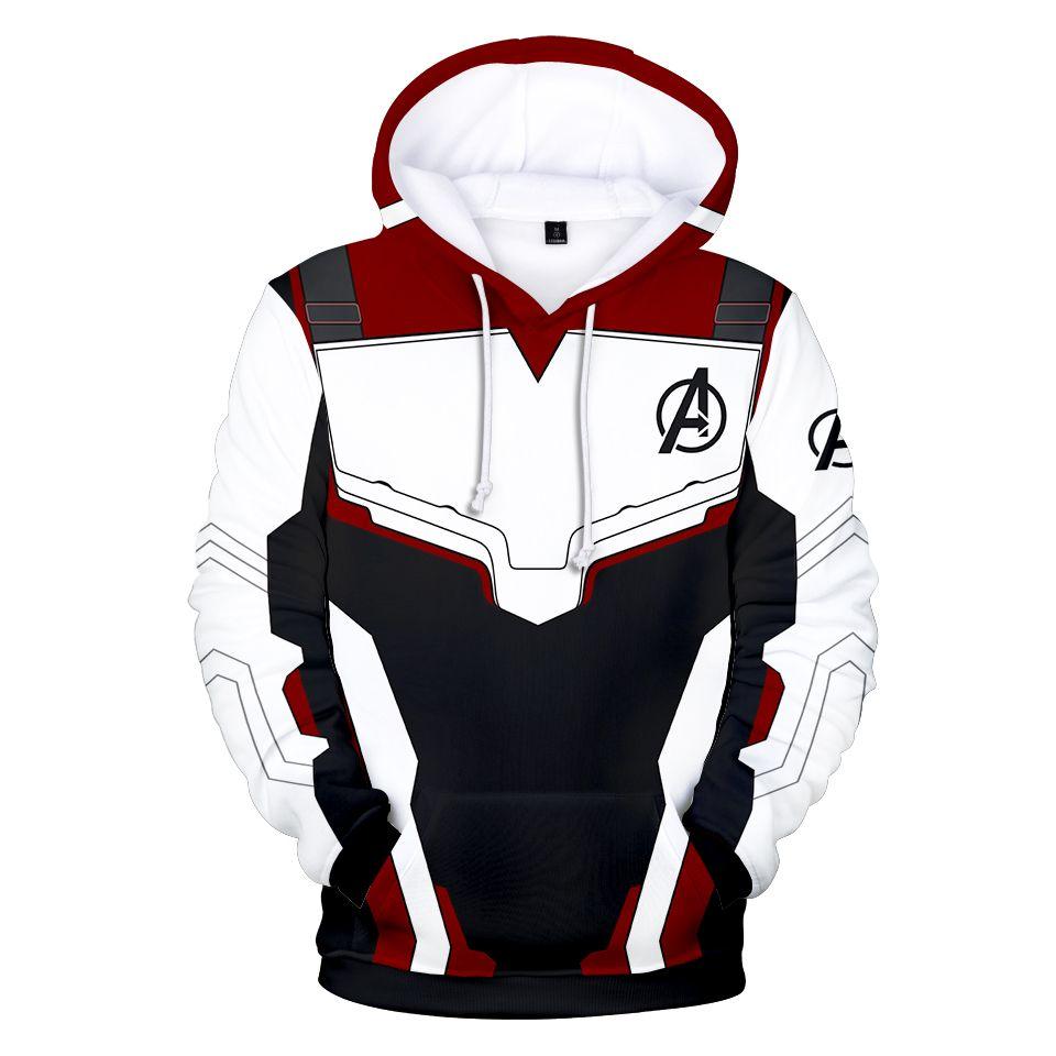 Avengers Endgame chandail à capuche royaume quantique avec capuche technologie avancée Cosplay Costumes 2019 nouveau super-héros Iron Man Hoodies