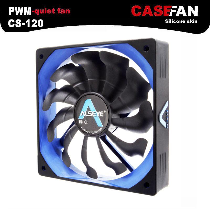 ALSEYE Computer Fan Cooler 120mm PWM 4pin Fan for CPU Cooler / Radiator / PC Case, 12V 500-2000RPM Silent Cooling Fans