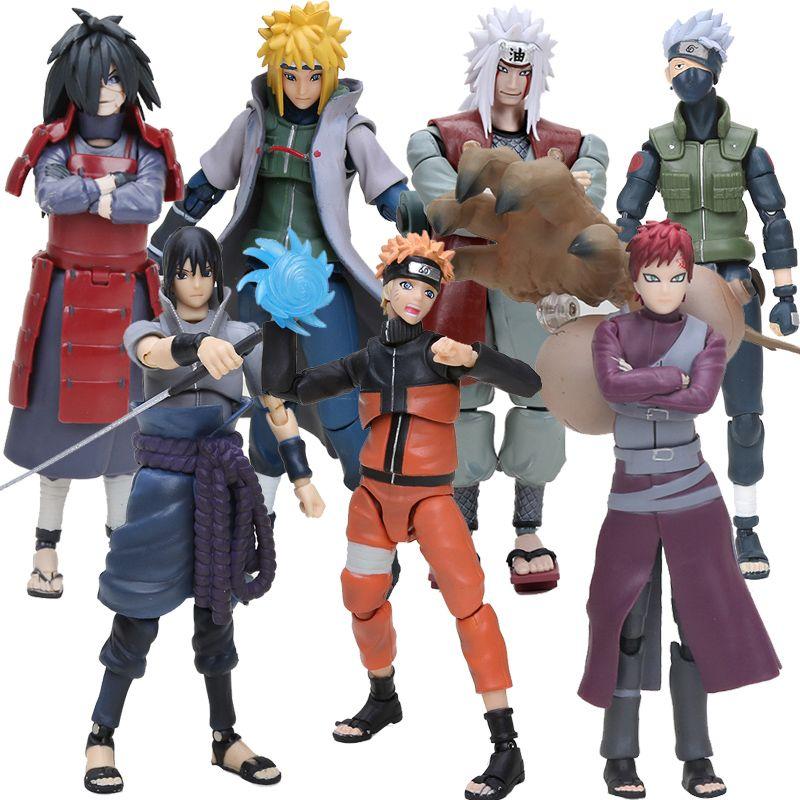14cm S.H. Figuarts SHF Naruto Uchiha Sasuke Itachi Namikaze Minato Hatake Kakashi Gaara Jiraiya PVC Action Figure Toys Model