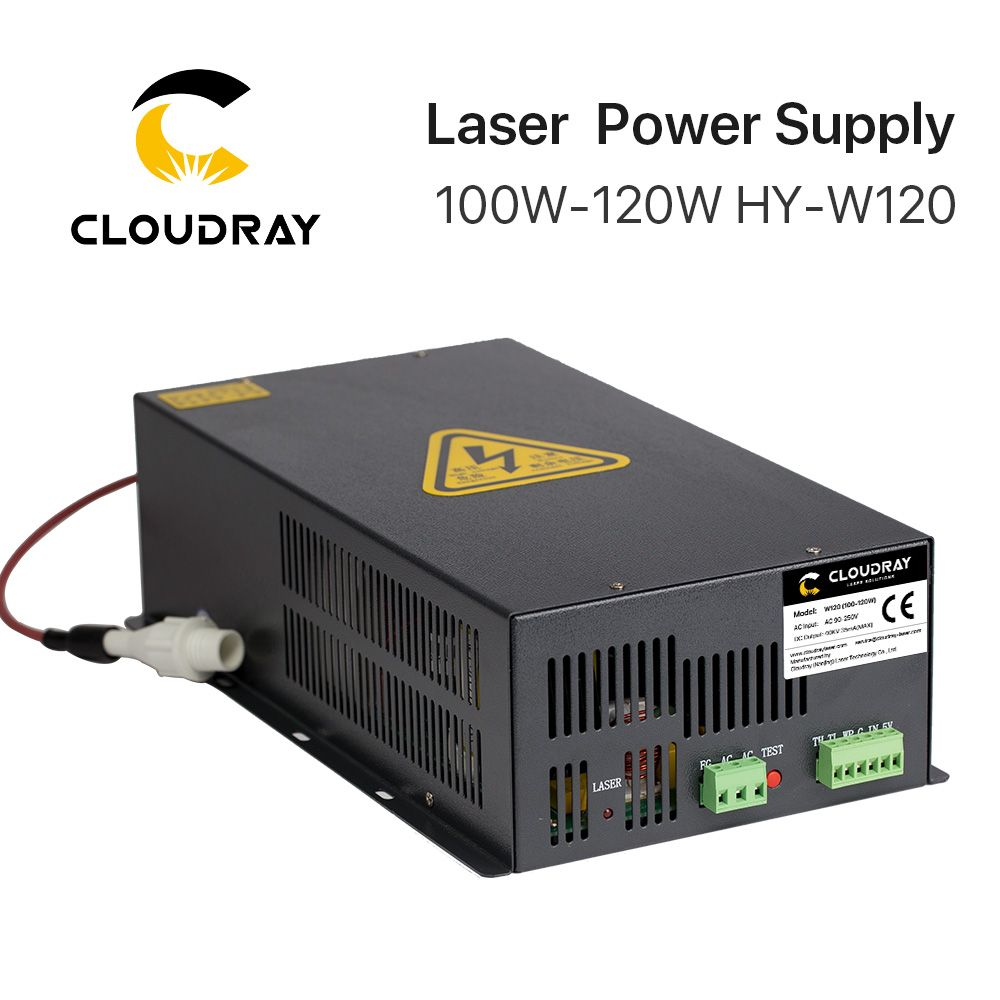 Cloudray 100-120W CO2 Laser Power Supply for CO2 Laser Engraving Cutting Machine HY-W120 T / W Series